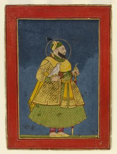 Abul Hassan Qutb, Shah of Golconda Mughal Paintings, Islamic Paintings, King Of India, Miniature Paintings, Birds Of Prey, Hyderabad, Indian Art, Art And Architecture, Miniatures