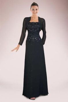 Luxurious Chiffon A-line Mother of Bride Dress with Lace Covered Bodice and Matching Jacket
