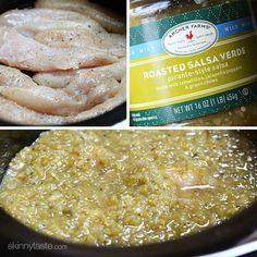 Easiest Salsa Verde Chicken (slow cooker or instant pot) | Skinnytaste