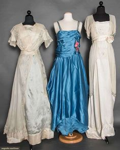 Three Edwardian Evening Gowns, C. 1912, Augusta Auctions, April 8, 2015 NYC