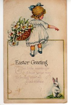 vintage easter cards | are a few antique easter postcards and a lovely vintage easter card ...