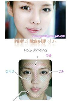 """CONTOURING Oval face"" Korean Makeup tutorial Pictures DIY | **~Zibees.com~** Fashion Guilt DIY/Tips!!"