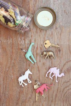 DIY animal keychains