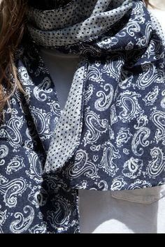 engineered garments double faced scarf.