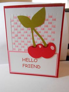 Hello Friend Greeting Card by susieqpapercreations on Etsy