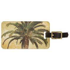 Vintage Tropical Palm Tree Tag For Luggage