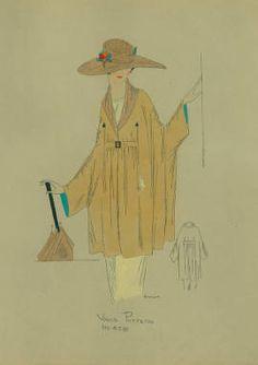 Draped dolman wrap, 1919 :: Fashion Plate Collection