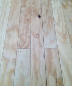 Plywood floors- cut pine plywood into planks and lay it down like hardwood flooring! Looks very pretty stained and costs a fraction of the price of new floors! Or paint? Blue Bedroom Walls, Pine Plywood, Hardwood Floors, Plywood Floors, Concrete Floors, Diy Flooring, Flooring Ideas, Plank Flooring, Painted Floors