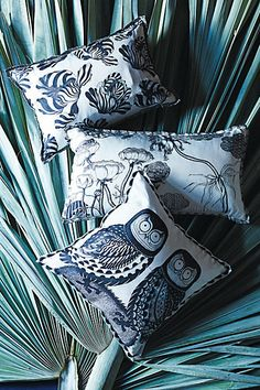 #AnthropologieEU #PinToWin Beautiful silk cushions with illustrations by artist Florence Balducci. Charming and another amazing  Anthropologie discovery.