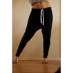 Men Women Unisex Harem pants, Baggy Sweatpants Drop Crotch Tapered... ($49) ❤ liked on Polyvore featuring pants, bottoms, jeans/pants, sport and sweatpants