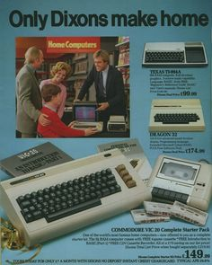 I remember being in love with visiting the computer section at Dixon's when I went to England for vacations during the mid-80's. Ended up buying a similar generation British computer though...the Sinclair ZX Spectrum!