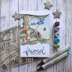 Fall Cards, Christmas Cards, Cards For Friends, Friend Cards, Arts And Crafts, Paper Crafts, Clear Stamps, Homemade Cards, Blue Bird
