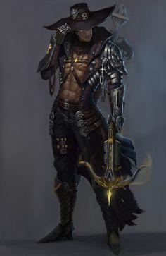 ArtStation - demon hunter, FIRE MAN
