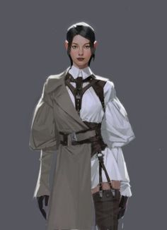 ArtStation - Character Design, Hyoeun Kim - Della U. Fantasy Character Design, Character Design Inspiration, Character Art, Poses, Mode Steampunk, Mode Kpop, Character Design References, Character Outfits, Anime Outfits