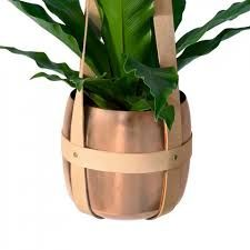 Image result for leather hanging plants