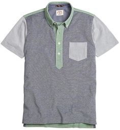 Shop the Brooks Brothers new Spring arrivals for men. Sport Fashion, Mens Fashion, Mood And Tone, Brooks Brothers, Contrast Collar, Cool Style, Just For You, Stylish, Tees