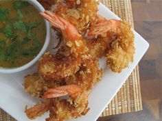 Crispy Rice Chex® Coconut Shrimp (Gluten Free) With Tangy Pineapple-Chili Dip | Serious Eats : Recipes