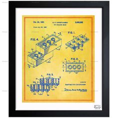 Oliver Gal Lego Toy Building Brick 1961 Framed Painting Print on Wrapped Canvas | AllModern