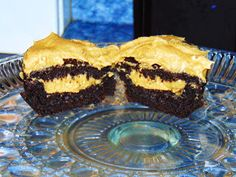 Peanut Butter Stuffed Chocolate Cupcakes made with the Mrs. Fields Bake N Stuff Cupcake Pan by Love Cooking Company.