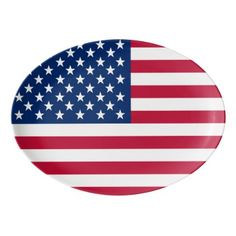 America flag American USA Porcelain Serving Platter - kitchen gifts diy ideas decor special unique individual customized
