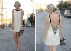 Love the back detail - perfect getaway dress for a wedding