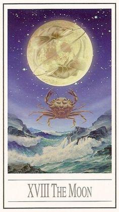 The Moon from Ananda Tarot.