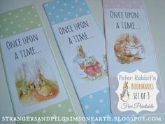Strangers & Pilgrims on Earth: Peter Rabbit's Bookmarks ~ Fun Friday! Free Printable Bookmarks, Printable Labels, Free Printables, Printable Vintage, Beatrix Potter, Diy And Crafts, Paper Crafts, Creative Crafts, Peter Rabbit Party