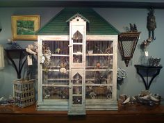 Collecting Antique Bird Cages In addition to our retail store in Old Greenwich , we also have a few booths in an Antique Showrooms in Sta. Small Bird Cage, Small Birds, Bird Cages For Sale, Antique Bird Cages, Old Greenwich, The Caged Bird Sings, Backyard Birds, Pretty Birds, Bird Houses