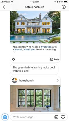 Looks Cool, Backyard, Exterior, Windows, Vacation, Mansions, Cool Stuff, House Styles, Amazing