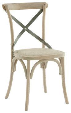 french country cafe chairs | Pair Kasson French Country Paris Cafe Wood Metal Dining Chair dining ...