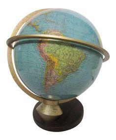 Rotating Globe Lamp on Chairish.com