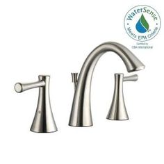 Glacier Bay Venue 8 in. Widespread 2-Handle High-Arc Bathroom Faucet in Brushed Nickel 67487W-6004 at The Home Depot - Mobile