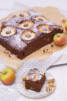 Apfel-Walnuss-Brownie {Unser Herbst – unsere Desserts} | verzuckert-blog.de