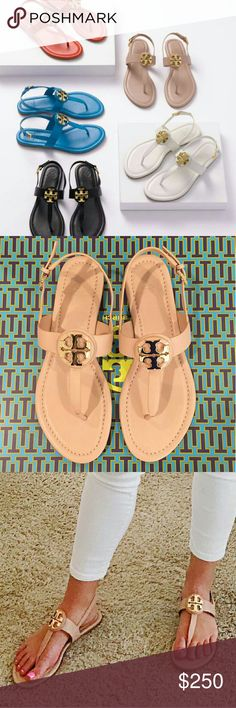 Tory Burch Bryce sandals NIB SOLD OUT Brand new unused with box Tory burch sandals flawless in size 9 sold out every where. One pair of sandals in beige color true to size. Tory Burch Shoes Sandals