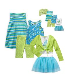 Loving this Blue Butterfly Mix & Match Clothes & Doll Clothes Set - Girls on #zulily! #zulilyfinds