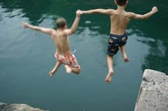"Inspiration for my novel ""Promise"": swimming at an abandoned limestone quarry. Limestone Quarry, Daffodils, Indiana, Growing Up, Abandoned, Maine, Sunrise, Novels, Swimming"