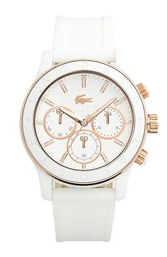 Lacoste Chronograph Silicone Strap Watch, 40mm available at #Nordstrom
