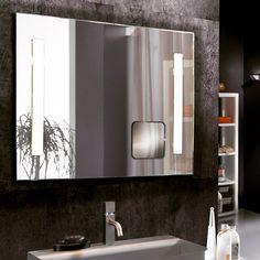 Baderomsspeil med ledlys, modell LUPA. #speil #retrobelystspeil #ledlys #interiør #interiormirame #interiørmirame #mirameinteriørogdesign #design #nettbutikk #interiørpånett #bad
