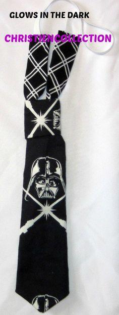 Darth Vader Tie, Boy Tie,Glow in the Dark Tie,Baby Boy Tie,Toddler Tie,Toddler Boy Clothes,Boy Accessories,Boy Christmas Tie,Bow Tie