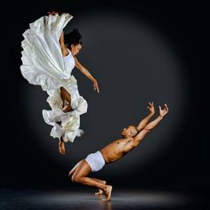 dancers Akua Parker and Anthony Burrell by Richard Calmes