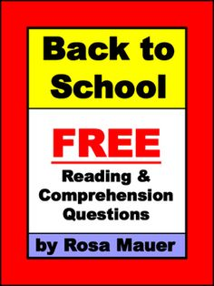 First Day Reading: Enjoy this free back-to-school reading passage. The comprehension questions begin with who, what, when, why, where, and…