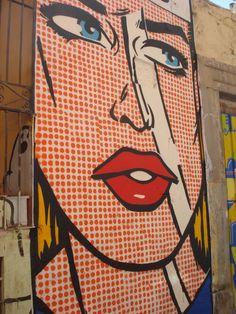 Pop art as street art, Zaragoza, España