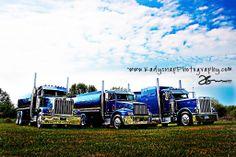 Three Capital City Oil trucks - All custom built by Capital City Chrome & Customs.
