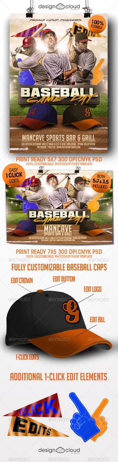 Baseball Game Flyer Template Baseball games, Flyer template and - baseball flyer