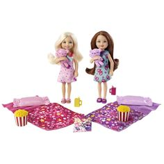 Barbie® Pajama Fun Set with Barbie's sister Chelsea and friend