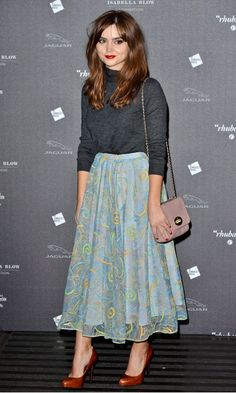 Jenna Coleman at the Isabella Blow Exhibition Party At Somerset House London - Wednesday 20 November 2013 | InStyle UK