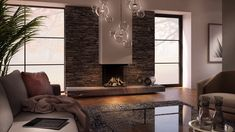 DRU Maestro Eco Wave gas fires can be remotely controlled . Family Room Fireplace, Home Fireplace, Modern Fireplace, Fireplace Design, Chimenea Simple, Modern Tv Room, Modern Living, Cladding Design, Accent Wall Bedroom