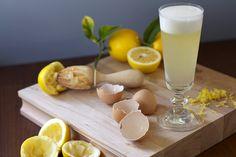 Meyer Lemon Sour | citrus vodka, St. Germain elderflower liqueur, Meyer lemon juice, Meyer lemon peel syrup, egg white, & orange bitters #cocktail