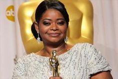 """I totally loved her in """"The Help.""""  She completely deserved that Oscar!  Octavia Spencer with her Oscar, Academy Awards, 2012."""