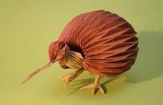 Peter Engel- Model made using Origami of a bird of some kind. I like how complex it looks with all of the folds, and how it looks realistic and life-like from a distance.